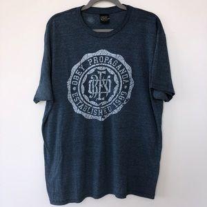 Obey Propaganda blue T shirt tee